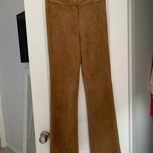 H&M suede flare pants